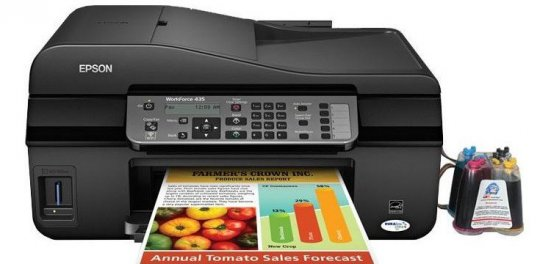 фото МФУ Epson WorkForce 435 с СНПЧ