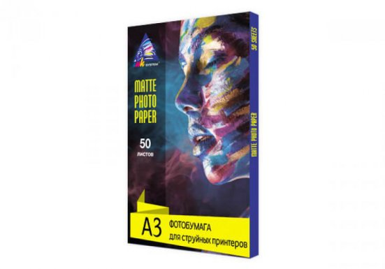 фото Матовая фотобумага INKSYSTEM Matte Photo Paper 230g, A3, 50 листов