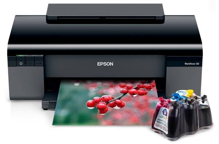 Принтер Epson Workforce 30 с СНПЧ