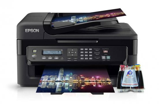 фото МФУ Epson Workforce WF-2530WF Refurbished с СНПЧ